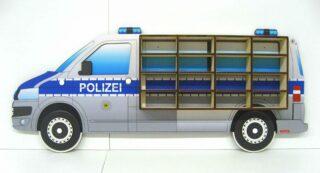 3D Dřevěná Polička na Autička VW T5 Polizei