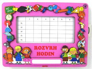 Dětský 2D dřevěný Magnét Rozvrh hodin