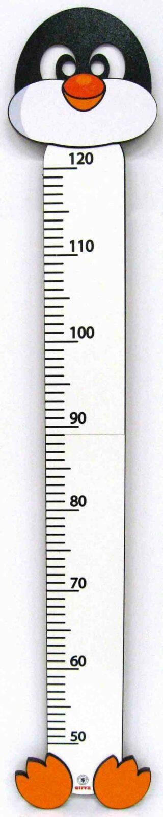 Dětský dřevěný metr nastenný 2D Tučňák