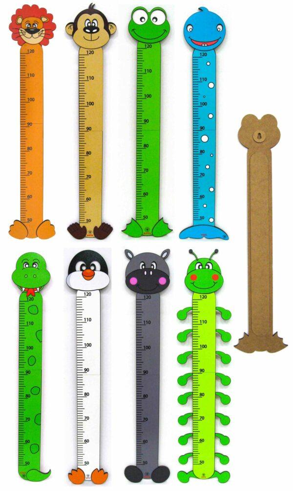 Dětský dřevěný metr nastenný 2D