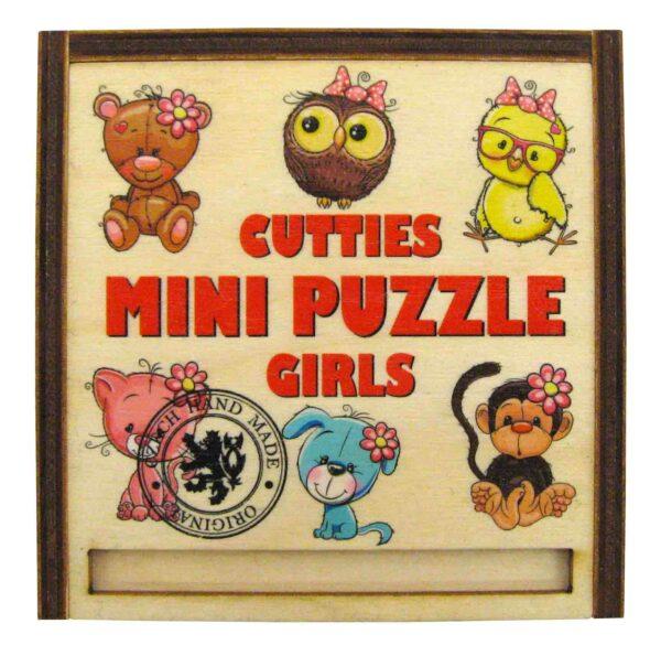 Dřevěné Puzzle Mini 4ks v dřevěné krabičce