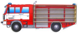 3D Dřevěná Polička na Autička – Hasiči Tatra CAS T815 4X4