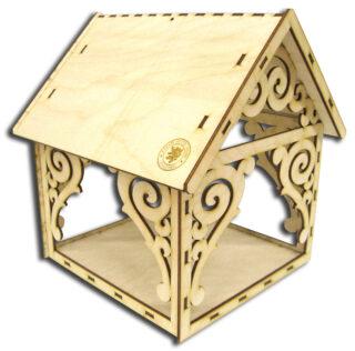 Dřevěný Domeček - Krmítko pro Ptáčky